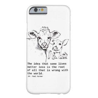 Het Bericht IPhone van de veganist Barely There iPhone 6 Hoesje