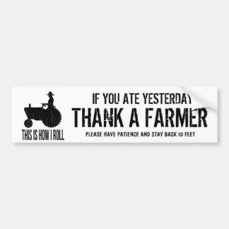Het Bericht van de Voertuigen van het Boerderij va Bumpersticker