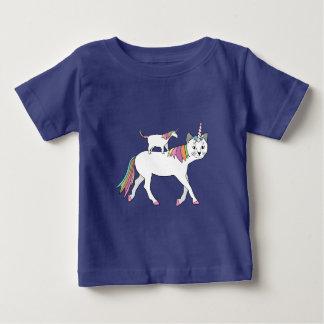 Het Berijden van de Eenhoorn van de kat de Kat van Baby T Shirts