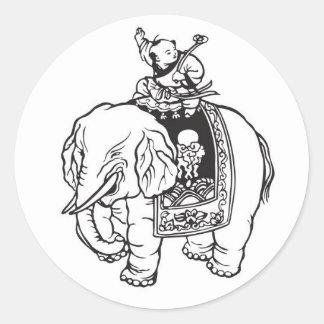 Het Berijden van de Jongen van het baby Charme van Ronde Stickers