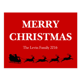 Het Berijden van de Kerstman het Thema van Briefkaart