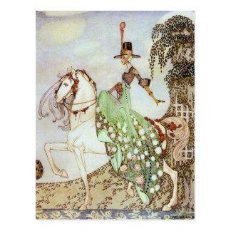 Het Berijden van de Prinses van het sprookje in Briefkaart