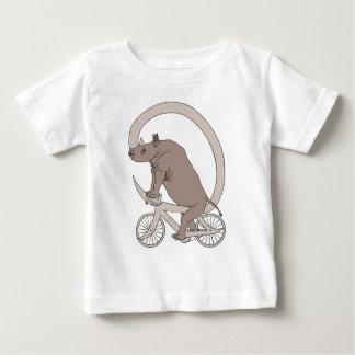 Het Berijden van de rinoceros met Zijn Fiets van Baby T Shirts