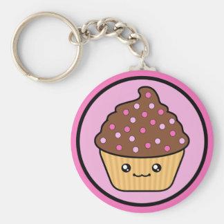 Het Berijpen van de Chocolade van Cupcake van Kawa Sleutelhanger