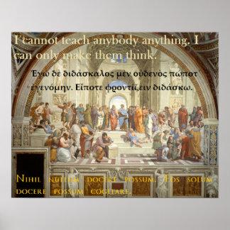 Het beroemde citaat van Socrates - ik kan niet Poster