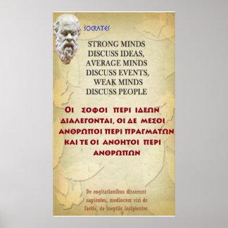 Het beroemde citaat van Socrates - Sterke meningen Poster