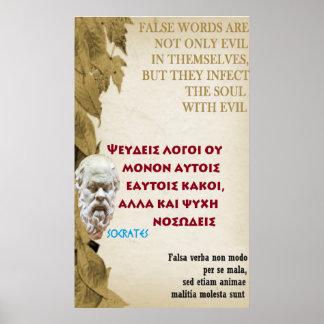 Het beroemde citaat van Socrates - Valse woorden Poster