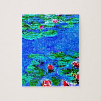Het beroemde schilderen van Monet, Waterlelies (ma Legpuzzel