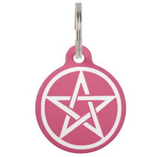 Het beschermende Pentacle van Heksen Label van het Huisdierpenning