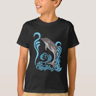 Het Bespatten van de dolfijn T Shirt