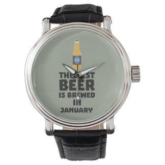 Het beste Bier wordt gebrouwen in Januari Zxe8k Polshorloge