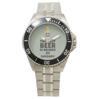Het beste Bier wordt gebrouwen in Januari Zxe8k Polshorloges