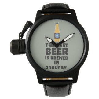 Het beste Bier wordt gebrouwen in Mei Z96o7 Polshorloge