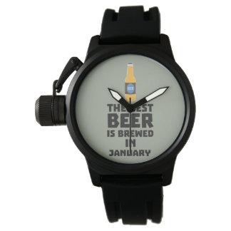 Het beste Bier wordt gebrouwen in Mei Z96o7 Polshorloges