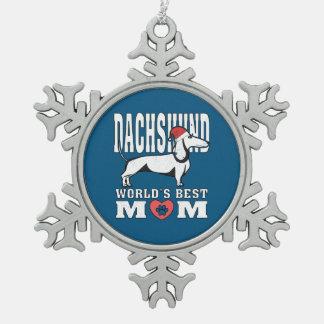 Het Beste Mamma van de Wereld van het Pet van de Tin Sneeuwvlok Ornament