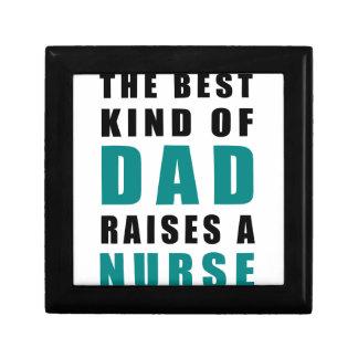 het beste soort papa heft een verpleegster op decoratiedoosje