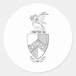 Het bèta Wapenschild van de Theta Pi Ronde Sticker