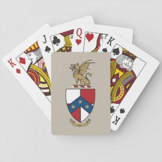 Het bèta Wapenschild van de Theta Pi Speelkaarten
