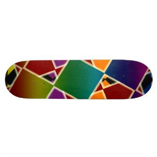 Het betegelde Kleurrijke Geregelde Dek van het 19,7 Cm Skateboard Deck