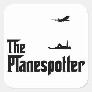 Het Bevlekken van het vliegtuig Vierkant Sticker