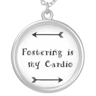 Het bevorderen is mijn Cardio - bevorder Zorg Zilver Vergulden Ketting