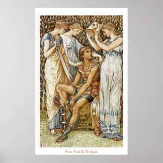 Het Bewapenen van Perseus voor zijn Zoektocht Poster