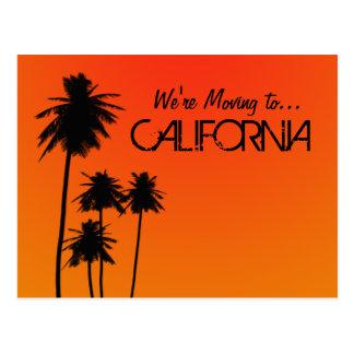 Het bewegen zich aan het briefkaart van Californië