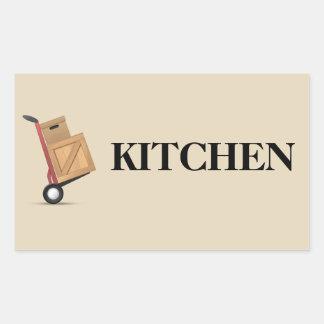 Het bewegende Etiket van de Doos - Keuken