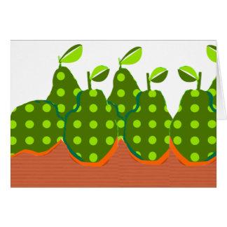 Het bewerkte Groene Moderne Ontwerp van Peren Briefkaarten 0