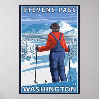 Het Bewonderen van de skiër - Stevens Pas, Poster
