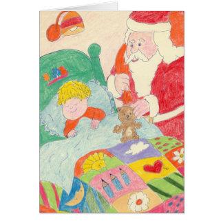 Het Bezoek van de kerstman Kaart