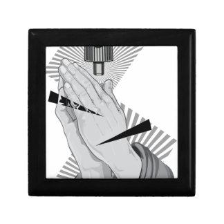 Het bidden Handen Graffiti Decoratiedoosje