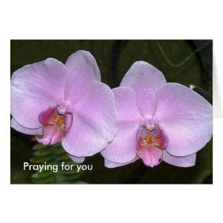 Het bidden voor u wenskaart
