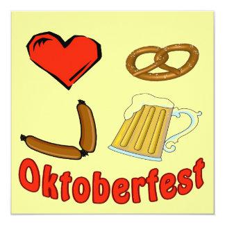 Het Bier Deutschland van Duitsland Oktober van 13,3x13,3 Vierkante Uitnodiging Kaart