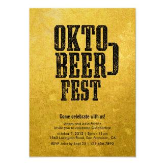 Het Bier die van Oktoberfest de Gouden Uitnodiging