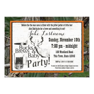 Het Bier en het Baby shower van bokken 12,7x17,8 Uitnodiging Kaart