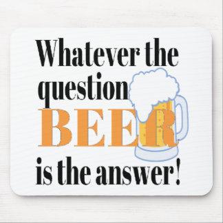 Het bier is het Antwoord Muismatten