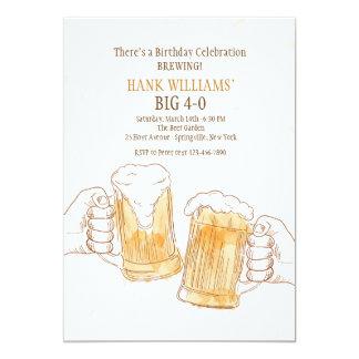 Het bier juicht Uitnodiging toe