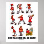 """Het """"bier maakt de Bal gaan om """" Print"""