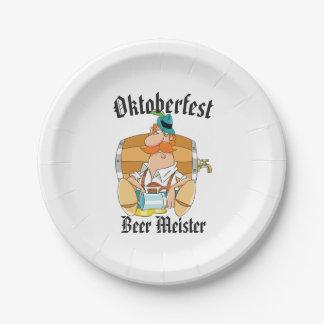 Het Bier Meister van Oktoberfest Papieren Bordje