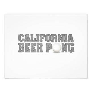 Het Bier Pong van Californië Persoonlijke Aankondigingen