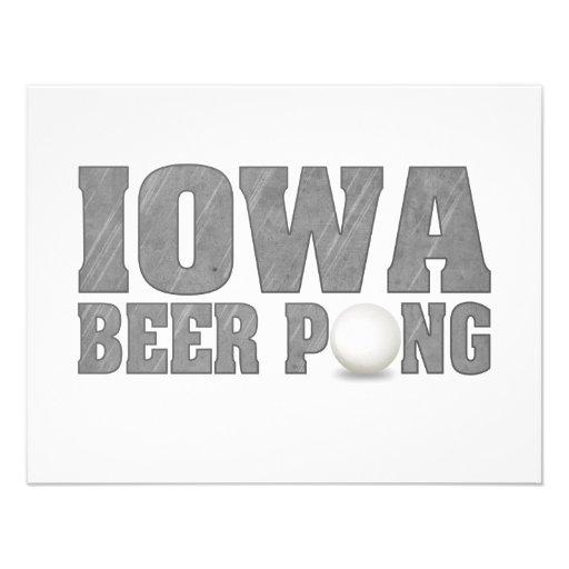 Het Bier Pong van Iowa Uitnodiging