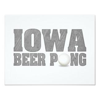 Het Bier Pong van Iowa 10,8x13,9 Uitnodiging Kaart