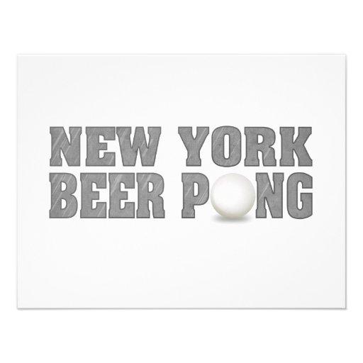 Het Bier Pong van New York Gepersonaliseerde Uitnodiging