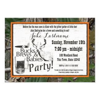 Het Bier van bokken en de Douche van Babys 12,7x17,8 Uitnodiging Kaart