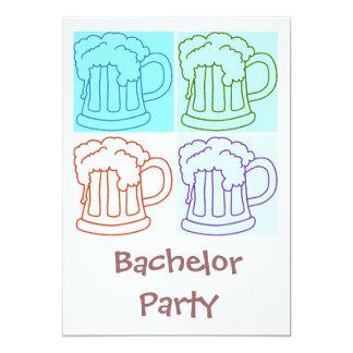 Het Bier van de Partij van de vrijgezel 12,7x17,8 Uitnodiging Kaart