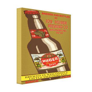 Het Bier van Huber Canvas Afdruk