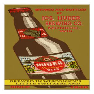 Het Bier van Huber Poster