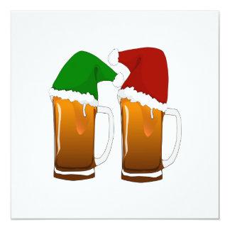 Het Bier van Kerstmis juicht toe 13,3x13,3 Vierkante Uitnodiging Kaart