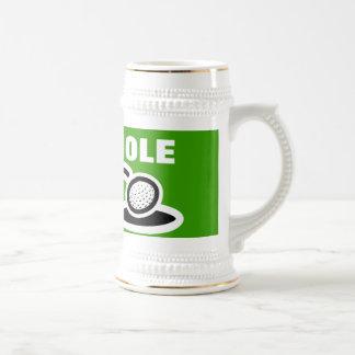 Het biermok van het golf met grappig citaat bierpul